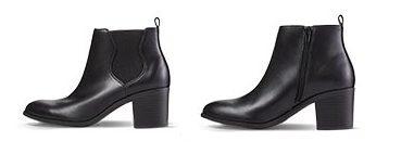 black aldi booties