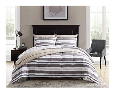 neutral stripe comforter