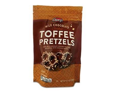 milk chocolate toffee pretzels