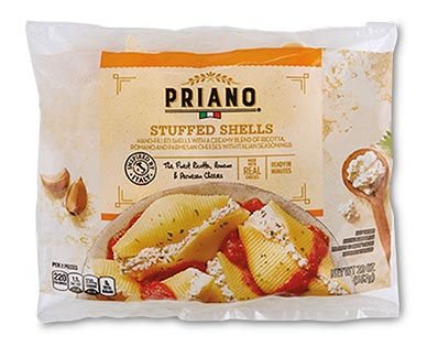 priano stuffed shells at aldi