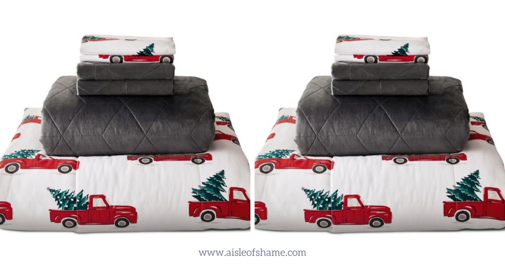 red truck comforter set