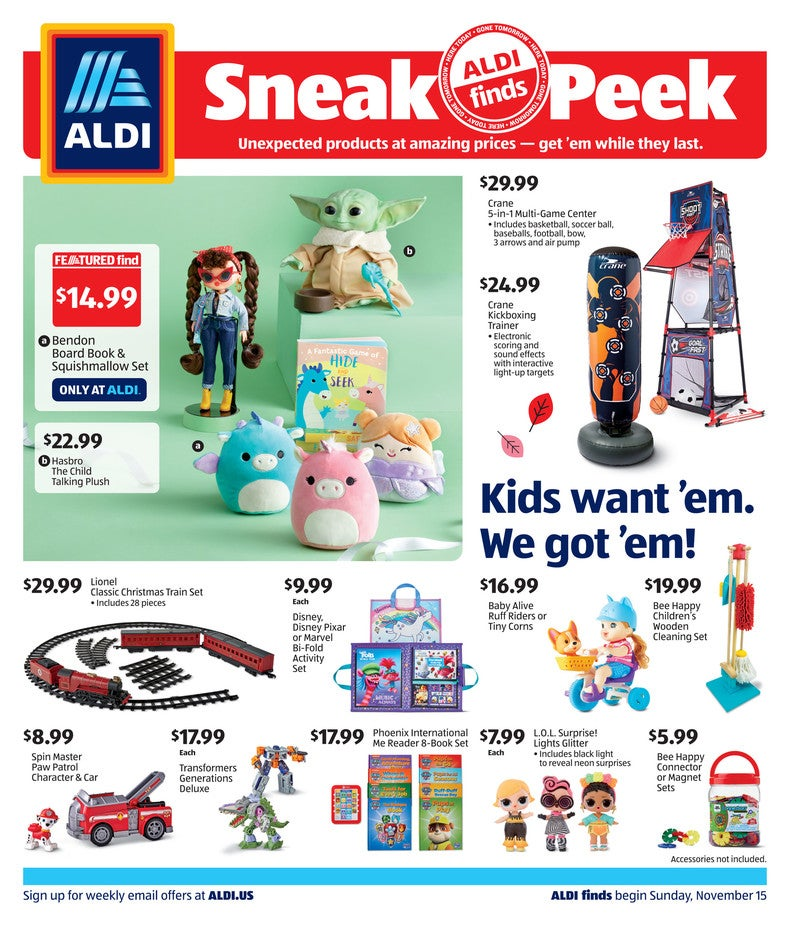 Aldi Ad November 18th page 1 of 4