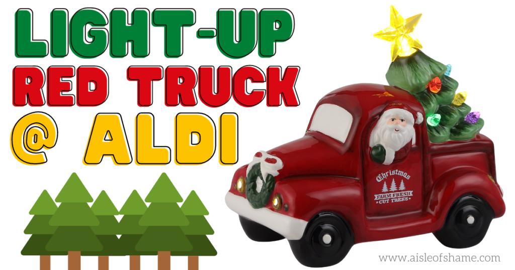 aldi light-up red truck