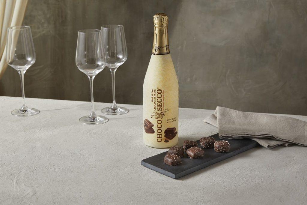 chocolate prosecco wine at aldi