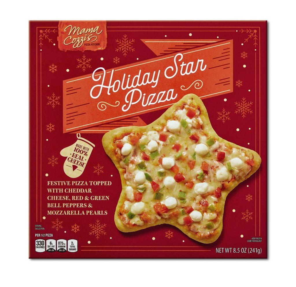 Aldi holiday star shaped pizza