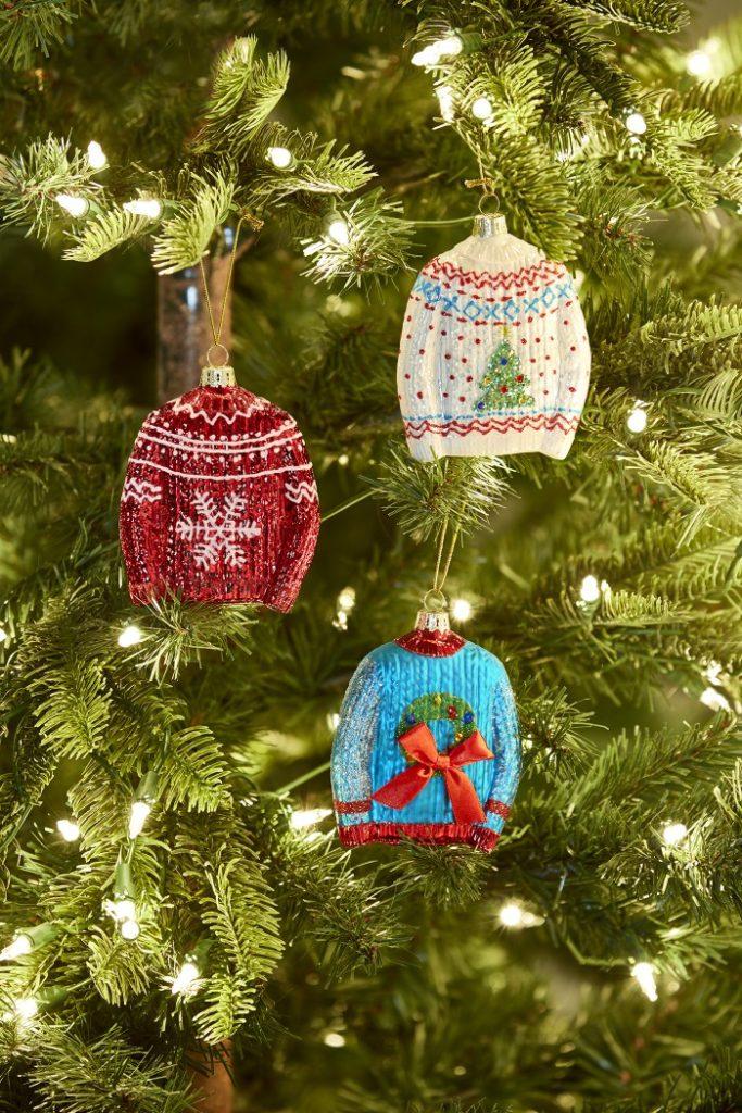 aldi sweater christmas ornaments