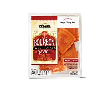 bourbon sweet potato ravioli at aldi
