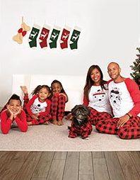 family buffalo check pajamas