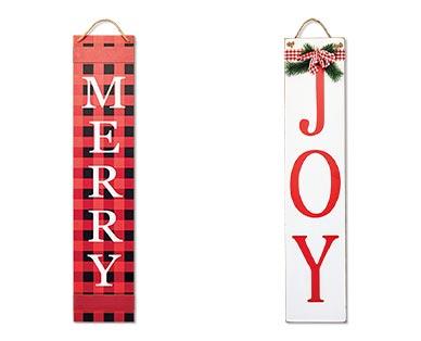 aldi holiday porch signs