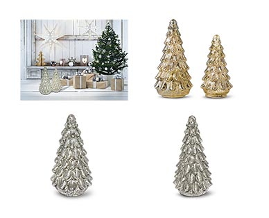 Merry Moments Holiday Lit Glass Trees