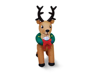 aldi reindeer inflatable