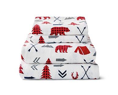 wildlife animals flannel sheets
