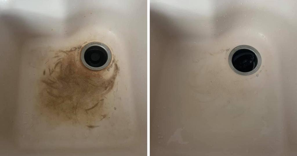 cloralen sink stains