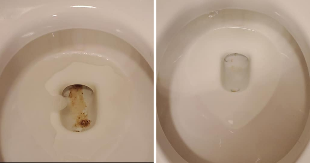 cloralen toilet before and after