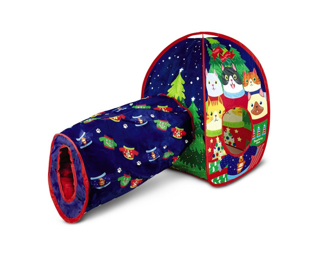 Heart to Tail Cat Tunnel And House Christmas Sweater