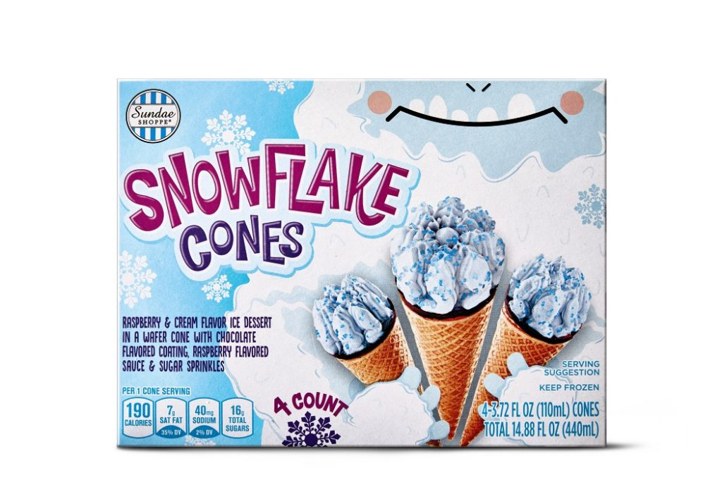 Sundae Shoppe Snowflake Cones from Aldi