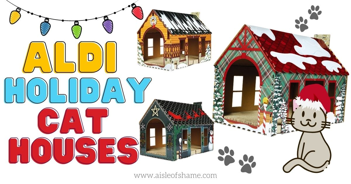 aldi holiday cat houses