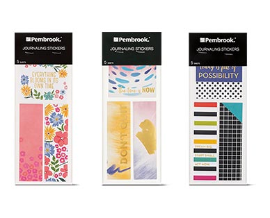 pembrook journaling stickers