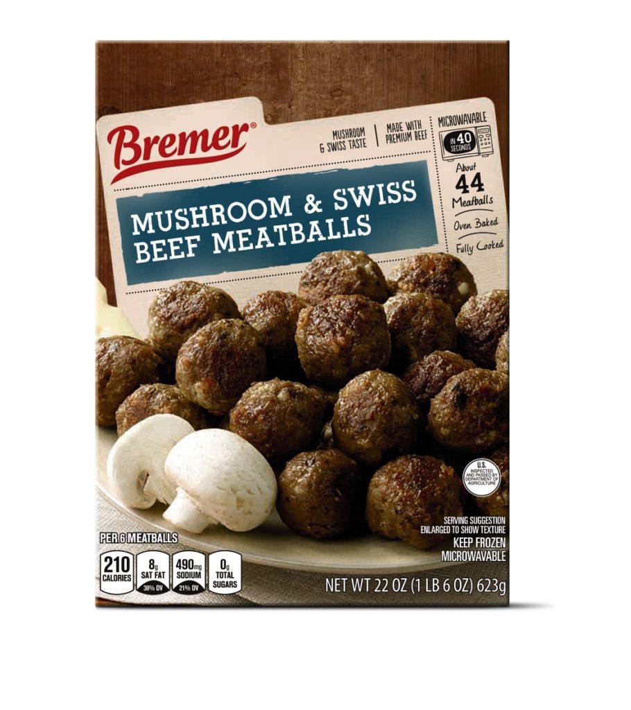 mushroom swiss meatballs