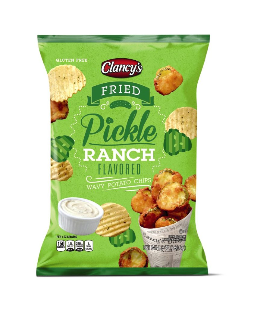 fried pickle ranch wavy potato chips