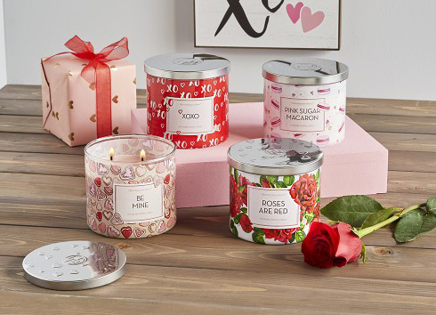valentine 3-wick candles