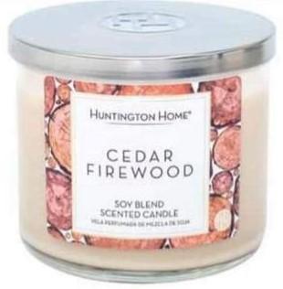 cedar firewood candle at Aldi