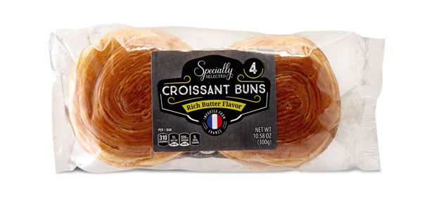 specially selected croissant buns