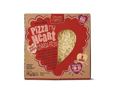heart shaped pizza at aldi