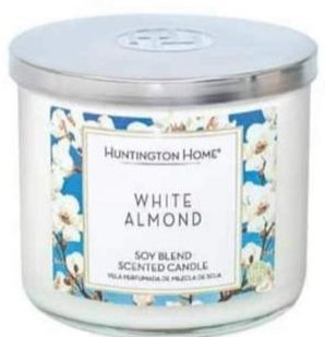white almond candles