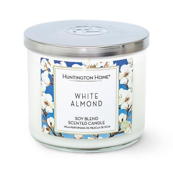 white almond candle at aldi