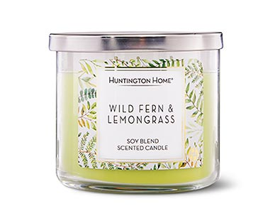 Aldi wild fern and lemongrass candle