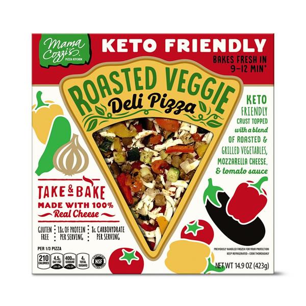 roasted veggie keto pizza