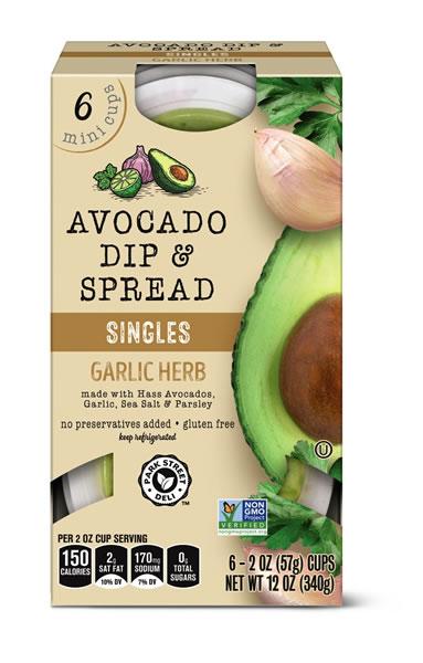 Garlic Herb Avocado Dip
