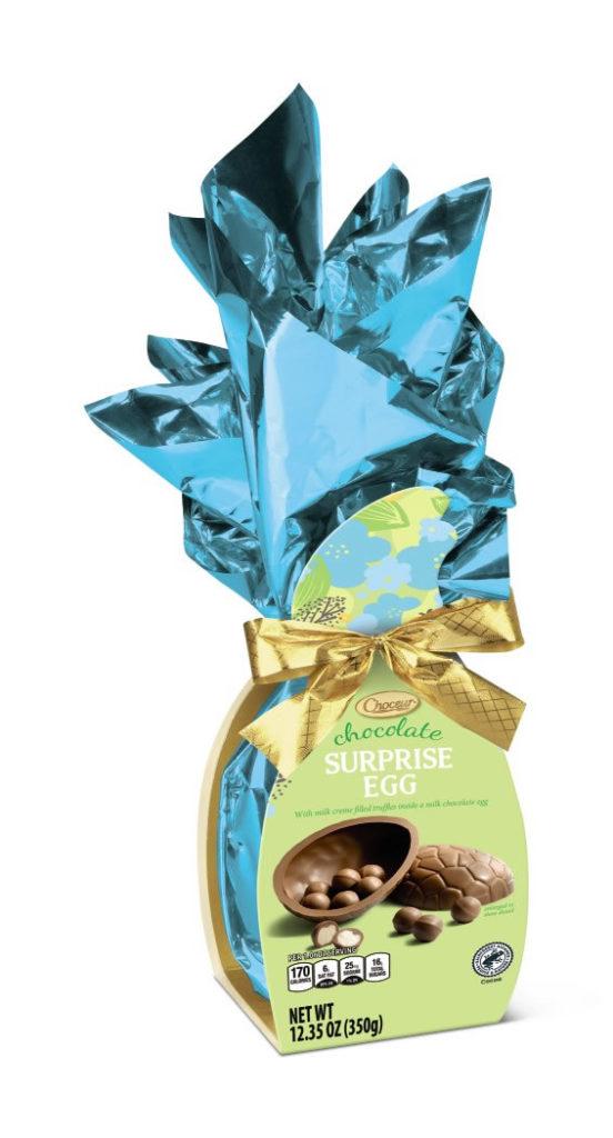 chocolate surprise egg at Aldi