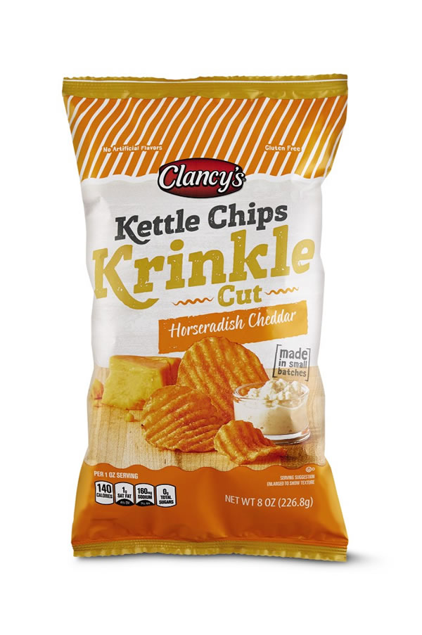 horseradish cheddar kettle chips at aldi