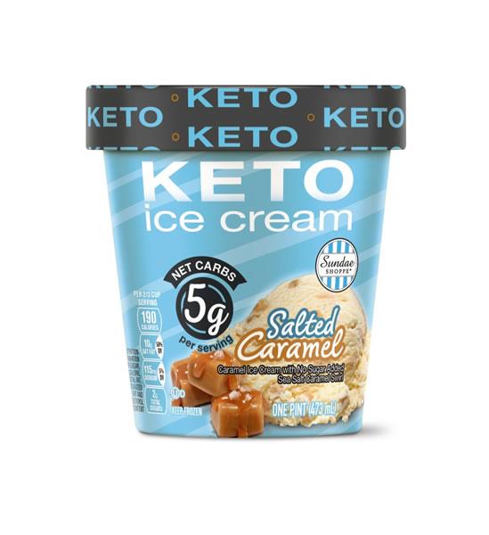 salted caramel keto ice cream