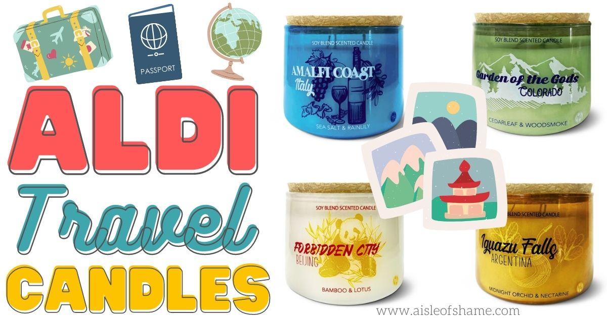 Aldi Travel candles