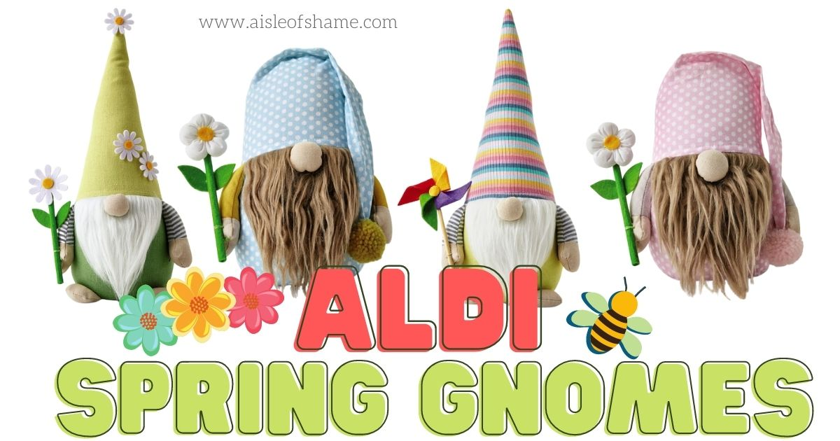 spring gnomes from Aldi stores