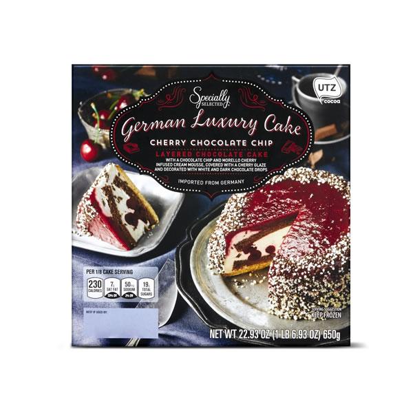 cherry chocolate chip cake at Aldi