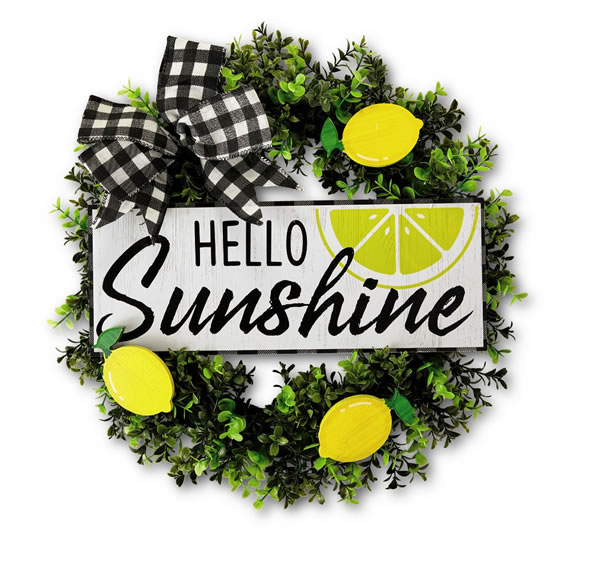 hello sunshine wreath aldi