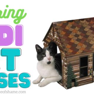 spring cat houses at Aldi