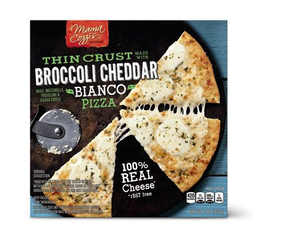 broccoli cheddar crust pizza