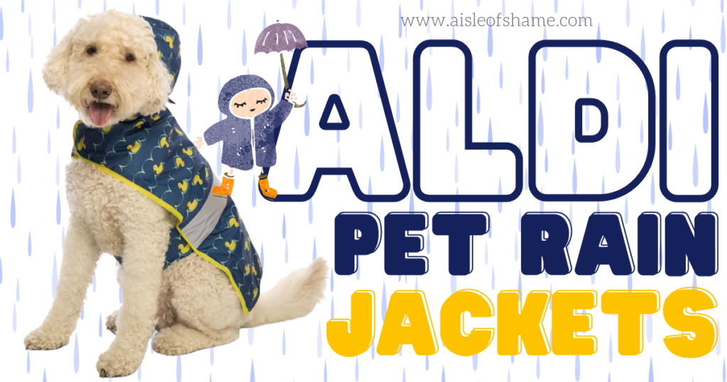 aldi dog rain jacket