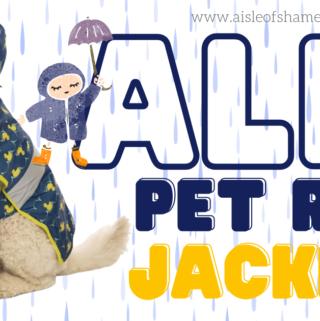 aldi dog rain jacket