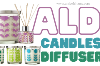 aldi geometric candles