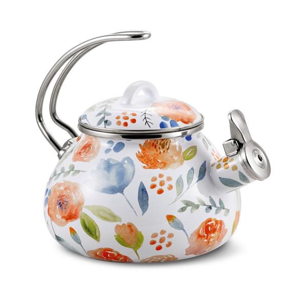 floral teakettle