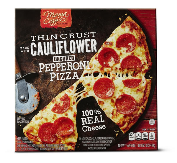 cauliflower pepperoni pizza