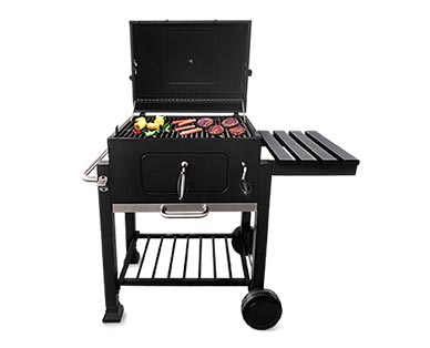 deluxe charcoal grill at aldi