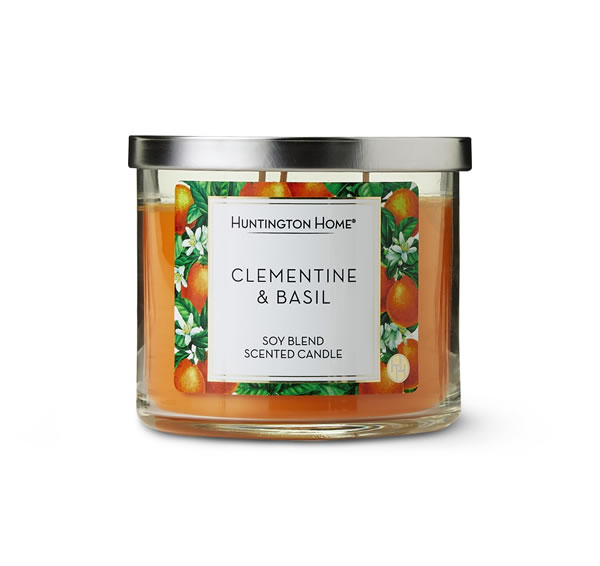 aldi clementine and basil candle