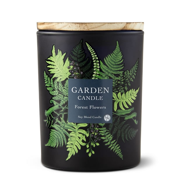 forest flowers candle from aldi
